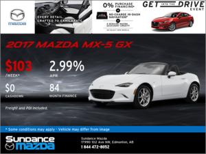 Save on the 2016 Mazda MX-5 GX