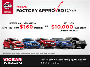 Nissan Factory Approved Days