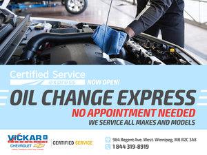 Express Lane Oil Change Service