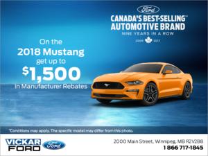Huge Savings on the 2018 Ford Mustang!