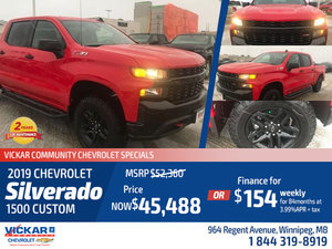 2019 SILVERADO CUSTOM TRAIL BOSS CREW CAB 4X4 #KT8248