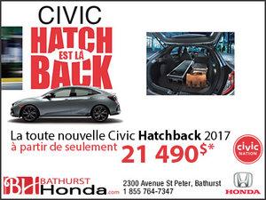 Le Civic Hatchback est là!