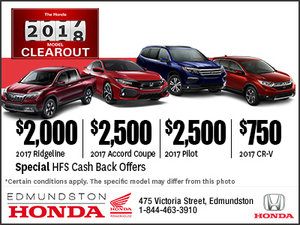 The Honda 2017 Clearout Event