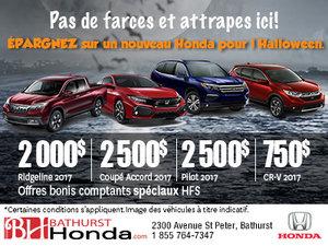 Épargnez sur un nouveau Honda pour l'Halloween