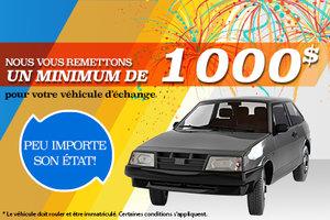 1000$ pour votre véhicule d'échange chez Mazda