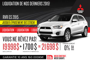 Mitsubishi RVR ES 2015 en liquidation