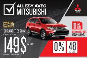 Mitsubishi Outlander 2016 en liquidation