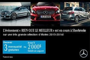 Rien que le meilleur avec Mercedes-Benz!