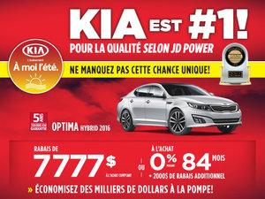 La Kia Optima Hybrid 2016 faite pour vous