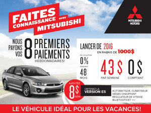 Mitsubishi Lancer DE 2016 en rabais !