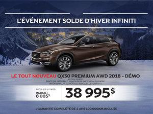 Le tout nouveau QX30 PREMIUM AWD 2018 démo