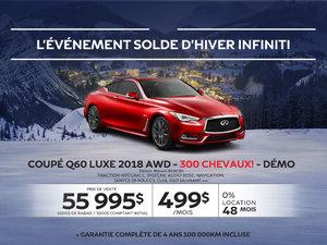 COUPÉ Q60 SPORT 2018 AWD  300 CHEVAUX! Démos