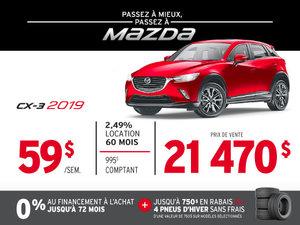 PASSEZ À MIEUX – PASSEZ AU GROUPE BEAUCAGE MAZDA avec le MAZDA CX-3 2019