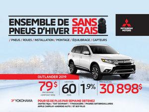 Ensemble de pneus d'hiver sans frais - Mitsubishi Outlander