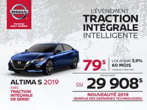 La toute nouvelle Altima S 2019 à Traction intégrale!