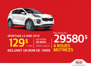 Sportage LX AWD 2019 - Boni de 1 000$ inclus!