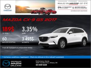 Louez la Mazda CX-9 GS 2017 aujourd'hui! chez Performance Mazda à Ottawa