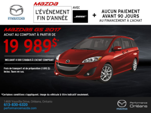 La Mazda5 2017 en rabais! chez Performance Mazda à Ottawa