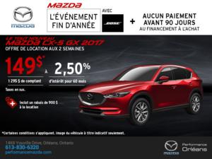 Obtenez la Mazda CX-5 2017 aujourd'hui! chez Performance Mazda à Ottawa