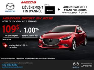 Obtenez une Mazda 3 Sport 2018 aujourd'hui! chez Performance Mazda à Ottawa