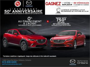 L'événement 50e anniversaire de Mazda! chez Performance Mazda à Ottawa