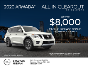 Get The 2020 Nissan Armada Today Stadium Nissan Promotion In Calgary