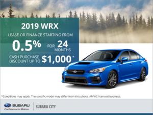 Get the 2019 Subaru WRX Today!