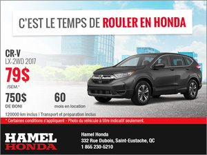 Louez le Honda CR-V 2017