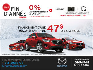 Le solde fin d'année chez Mazda! chez Performance Mazda à Ottawa