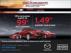 L'événement passez en mode printemps chez Mazda chez Performance Mazda à Ottawa