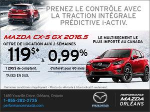 Mazda CX-5 GX 2016.5 en location chez Performance Mazda à Ottawa