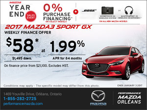 Finance the 2017 Mazda3 Sport GX Today!