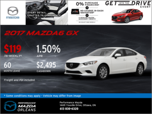 Lease the All-New 2017 Mazda6 GX Today!