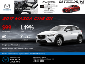 Get the 2017 Mazda CX-3 GX Today!