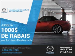 Programme de fidélité du propriétaire chez Performance Mazda à Ottawa