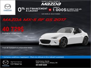 La Mazda MX-5 RF GS 2017! chez Performance Mazda à Ottawa