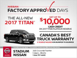 Save Big on the Brand-New 2017 Nissan Titan!