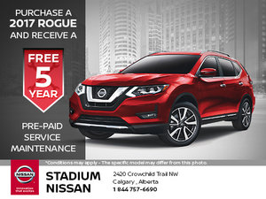 Buy a 2017 Rogue and Get 5 Year Maintenance!