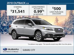 Huge Savings on the 2018 Subaru Outback!