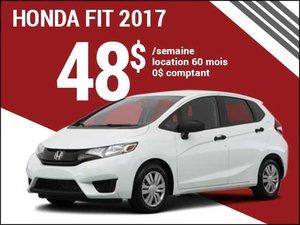 Une Honda Fit 2017 pour 48$ par semaine chez Groupe Vincent à Shawinigan et Trois-Rivières