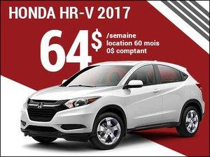 64$ par semaine pour rouler en Honda HR-V 2017 chez Groupe Vincent à Shawinigan et Trois-Rivières