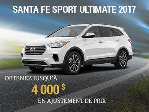Jusqu'à 4 000$ de rabais pour un Hyundai Santa Fe Sport ULTIMATE 2017 chez Groupe Vincent à Shawinigan et Trois-Rivières