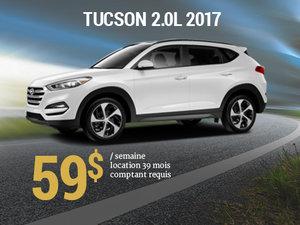 Offrez vous le nouveau Hyundai Tucson 2017 pour 59$/sem. chez Groupe Vincent à Shawinigan et Trois-Rivières