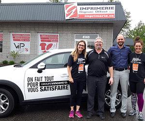 La Brigade Sportive Groupe Vincent fait un tour à Shawinigan-Sud!
