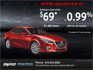 The All-New 2016 Mazda3: Get it Today!