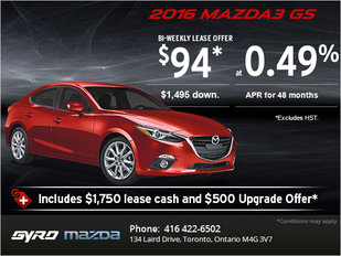 The 2016 Mazda3 GS: Get it Today!