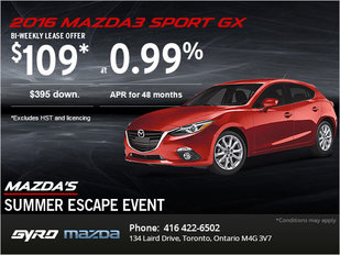 Drive Home the 2016 Mazda3 Sport GX Today!