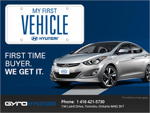 Get Your First Vehicle with Gyro Hyundai!
