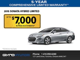 2015 Hyundai Sonata Hybrid limited in Toronto