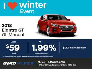 Get the All-New 2018 Hyundai Elantra GT!